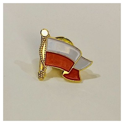 """Pin """"Poland- Flag on the wind"""""""