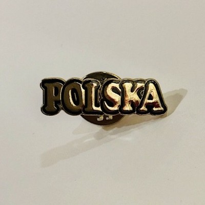 """Pin """"Poland- lettering"""""""