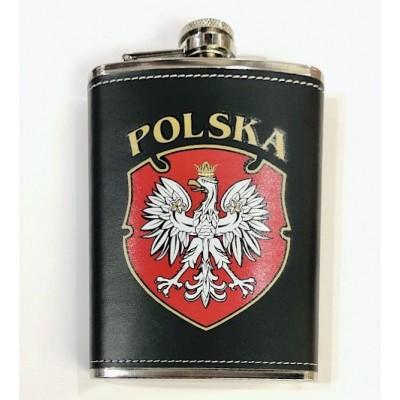 Pocket flask - Poland (emblem)