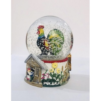 """Snow ball  """"łowicz- rooster"""""""