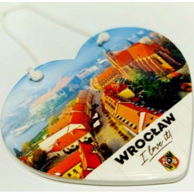 """Ceramic heart """"Wrocław"""""""
