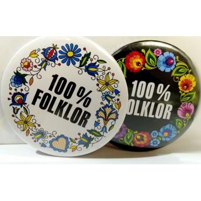"""Pin """"100% FOLKLOR"""" mix"""