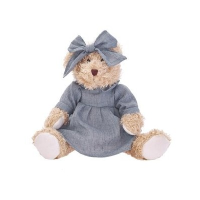 Teddy bear in a blue dress