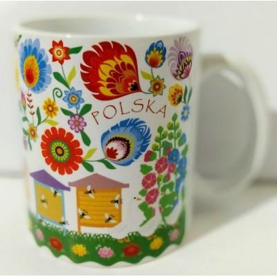 Łowicz mug (beehives)