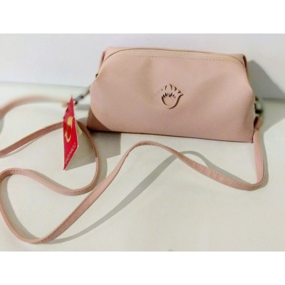 A small bag with a belt - pink