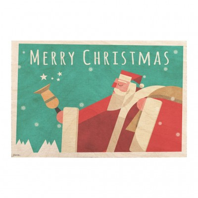 Wooden card - Merry Christmas