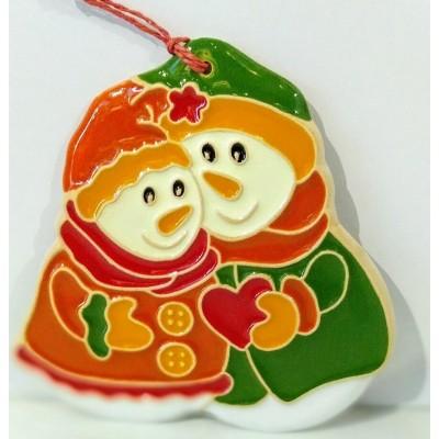 Ceramic snowmen