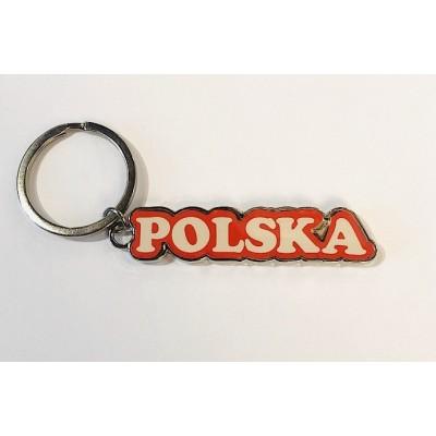 """White/red keyring """"POLAND"""""""