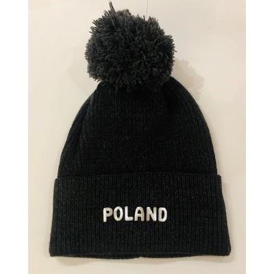 """Winter hat """"Poland"""" graphite"""
