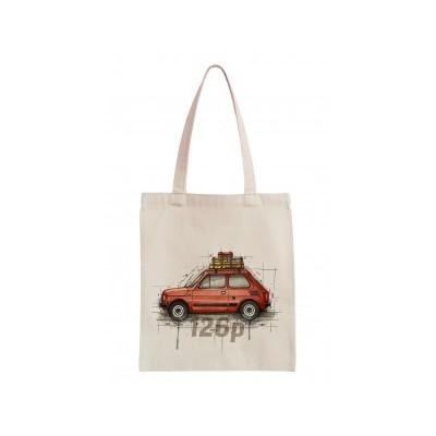"Cotton bag ""Poland- fiat 125p"""