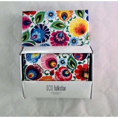 Small wallet - Lowicz flowers