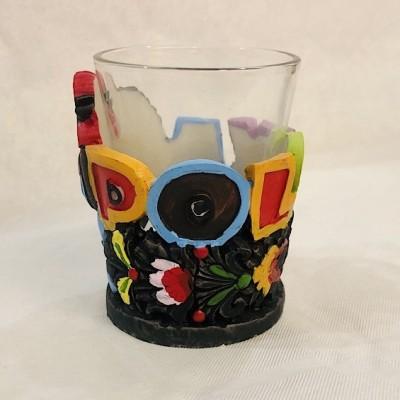 Shot glass Poland folk
