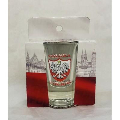Shot glass - polish emblem