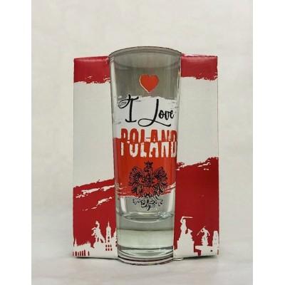 High shot glass - I love...