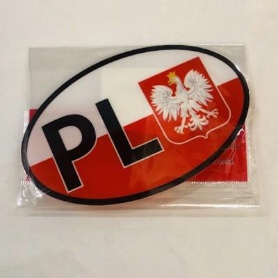 """Sticker for car """"PL/EU"""""""