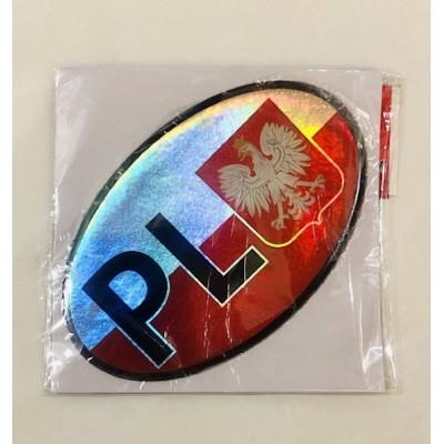 """Convex sticker """"PL- emblem"""""""