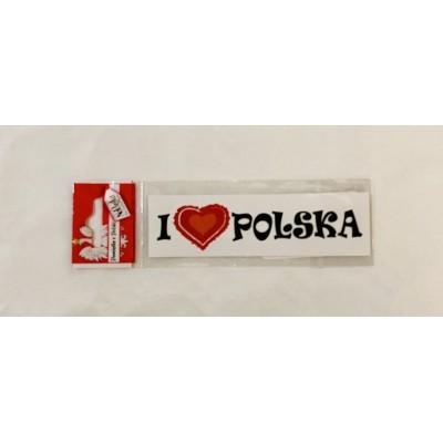 """Sticker """"I love Polska"""""""